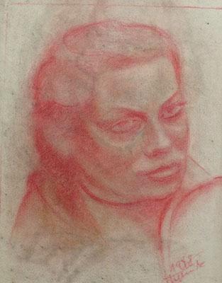Porträt ( Gisela von Örtzen ) 1948  25,5 x 33