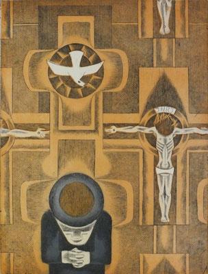 Gebet  1976  30 x 39,5 ( Ätz )      ( 2 )