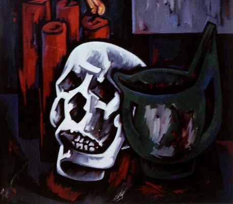 Stillleben mit Totenkopf
