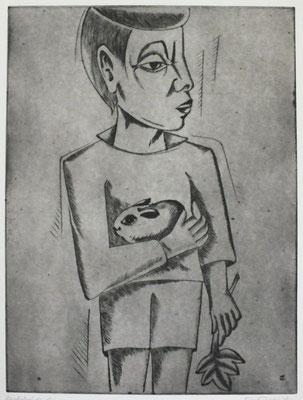 Junge mit Hase I  1996  29,5 x 39,5