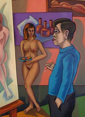 Maler und Modell  1999  85 x 115