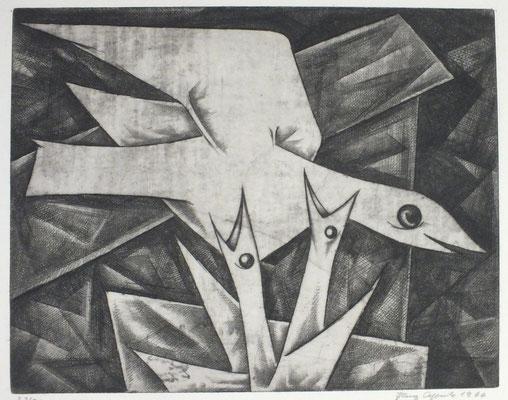 Nest Flug  1966  39,5 x 31