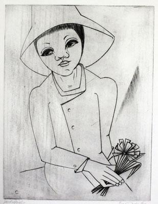 Mädchen Bildnis  1979  30 x 39,5