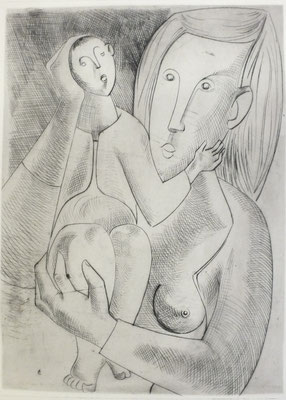 Mutter und Kind  1954  23,5 x 31