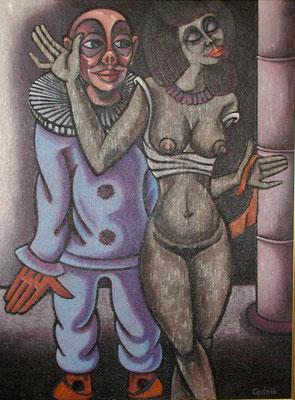 Der Clown und das Mädchen  1981  90 x 120