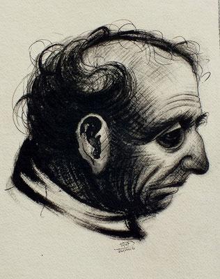 Alter Mann aus Altersheim I  1947  25 x 32