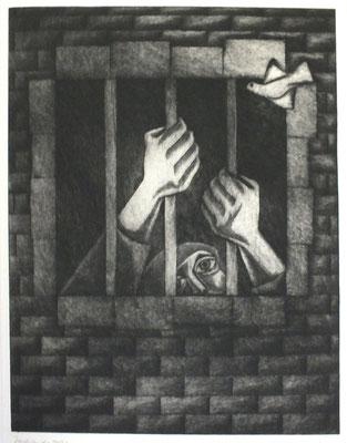 Blick nach draußen  1979  30,5 x 39,5      ( 3 )