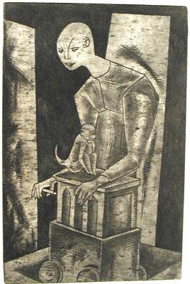 Leierkastenmann II  1957  20 x 31