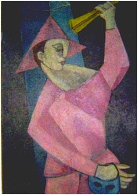 Harlekin mit Fächer    1953        100 x 138