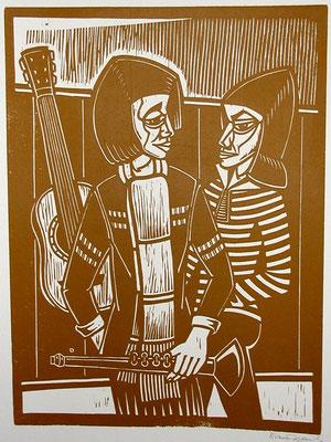 Junge Musiker  1982  45 x 60