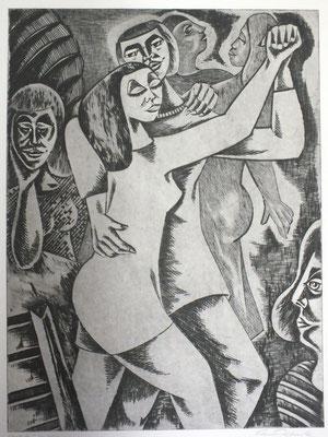 Tango-Tanzende  1990  39,5 x 53