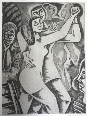Tango-Tanzende  1990  39,5 x 53          ( 3 )