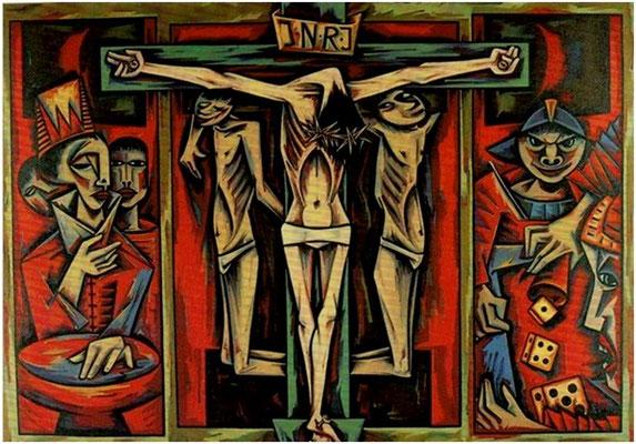 Kreuzigung  1967    257 x 179   Eigentum Marktkirche St. Jakobi Einbeck