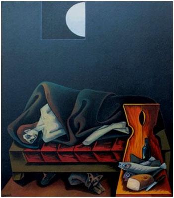 Schlafender Mann  1994  120 x 150