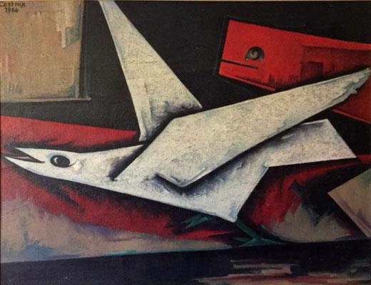 Laufender Vogel  1966    100 x 80