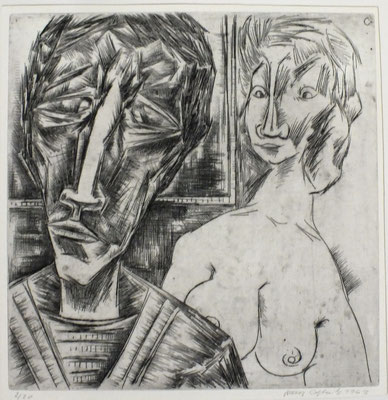 Im Atelier II  1963  30 x 30