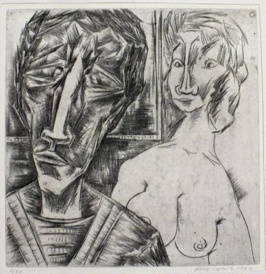 Im Atelier II  1963  30 x 30       ( 2 )