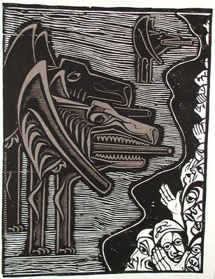Der Krieg ( Bedrohung )  1978  59 x 78