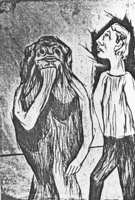Dichter und Muse  1971    30 x 39,5