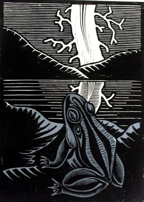 Frosch  1983  40 x 55