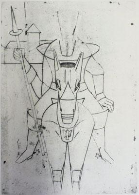 Don Quijote ( Skizze )  1996  39,5 x 56