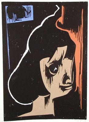 Mädchenkopf  1966  45 x 63    Platte vorhanden
