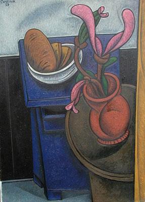 Stillleben mit blauer Kommode  1959  73 x 103