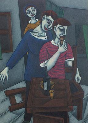 Trinkende Freunde  1959  118 x 162