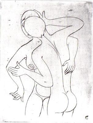 Umarmung  1956  30 x 39,5      ( 2 )