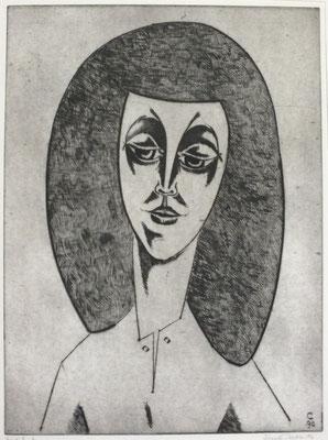 Damenporträt  1996  29,5 x 39,5