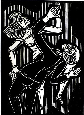 Tanzendes Paar  1984  40 x 55                  Platte vorhanden