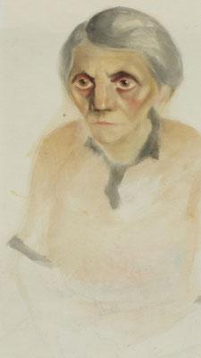 Tante Mina  1948  30 x 40 ( Aquarell )
