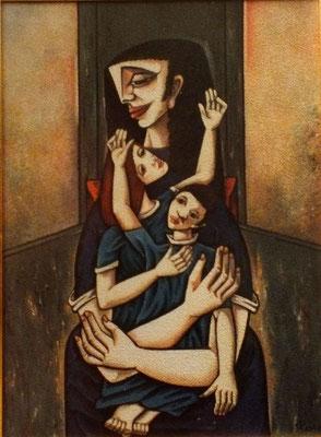 Mutter mit zwei Kindern  1982    91,5 x 125