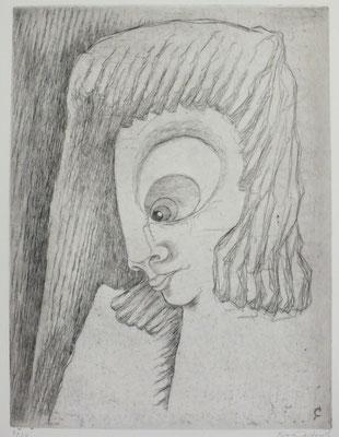 Frau mit langem Haar  1972  30 x 40