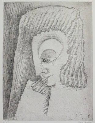 Frau mit langem Haar  1972  30 x 40              ( 2 )