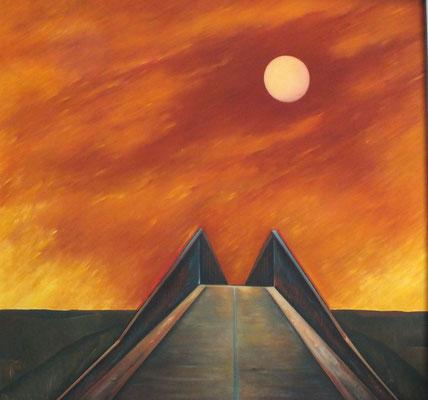 Brücke mit Sonne  1974    105 x 99
