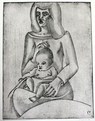 Mutter mit Kind  1967  30 x 39,5            ( 1 )