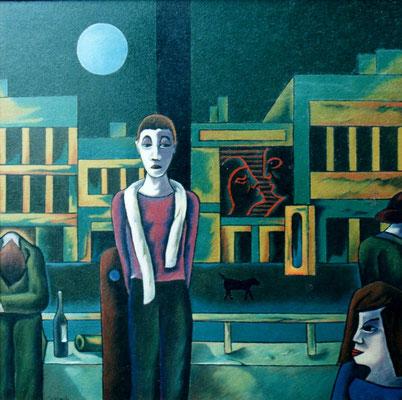 Nächtliche Vorstadt  1997    110 x 110