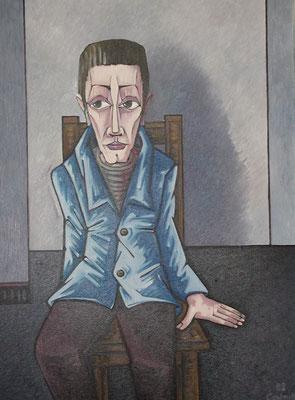 Ängstlicher Mann  1982  82 x 110