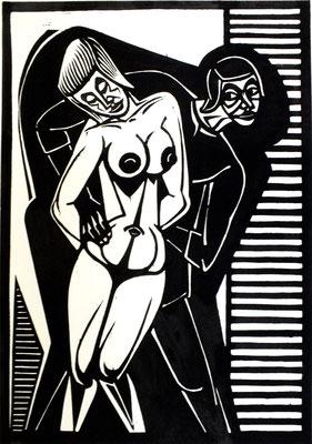 Frauenraub  1983  39 x 55     Platte vorhanden