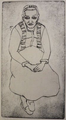Frau Öl ( Sitzende )  1948  23,8 x 43,3