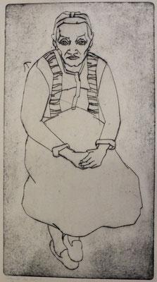 Frau Öl ( Sitzende )  1948  23,8 x 43,3      Kahle Sammlung