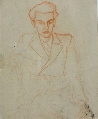 Alfred Doenicke ( Freund )  1948  25 x 31 ( Rötel )