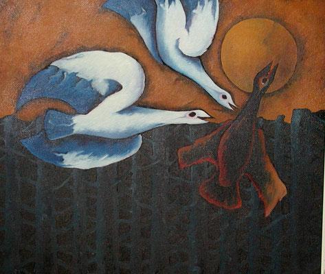 Vogelkampf  1991  110 x 98