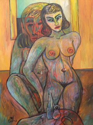 Nacktes Paar  2006  84 x 110
