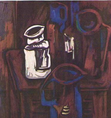 Komposition mit Gefäßen  1964  80 x 82