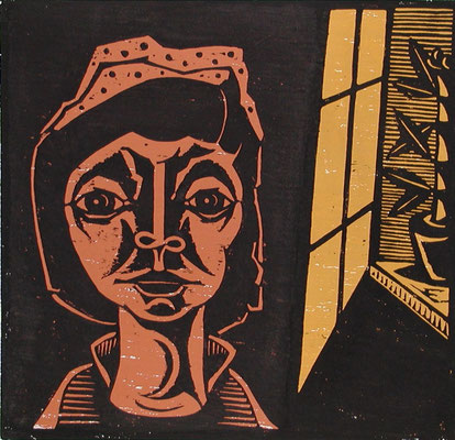 Frau mit Mütze  1998  47 x 45