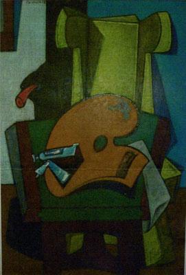 Stillleben mit Palette  II  1955