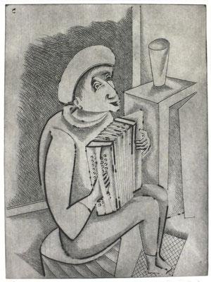 Harmonika Spieler  1996  29,5 x 39,5      ( 1 )