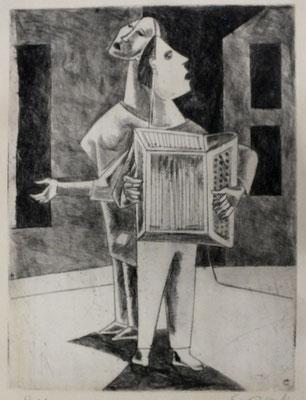 Straßenmusikanten I  1955  23,9 x 32       Kahle Sammlung